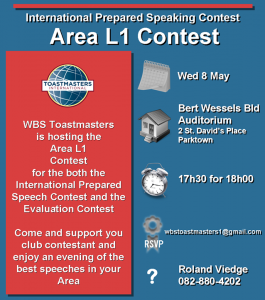 toastmaters area l1 contest